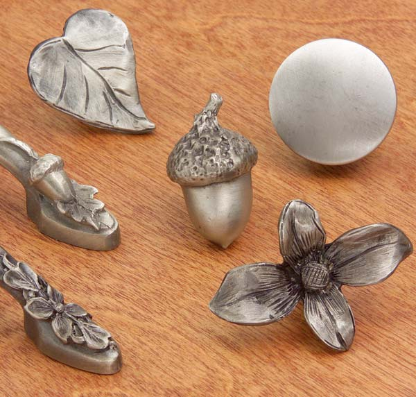 Knobs and pulls by Acorn Manufacturing.