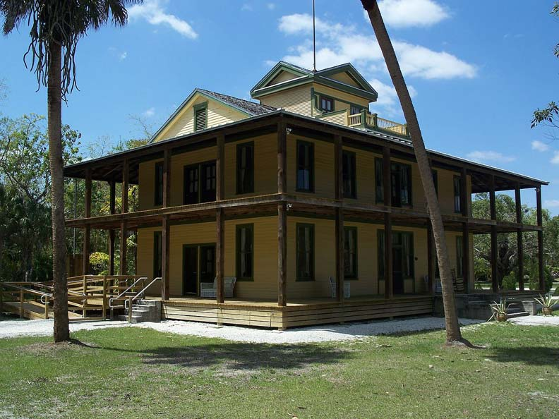 The Planetary Court at Florida's Koreshan State Historic Site, which housed the seven women who were administrators of the settlement.