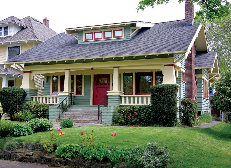 a craftsman neighborhood in portland oregon old house