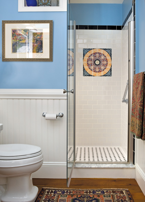 art tile, bathroom