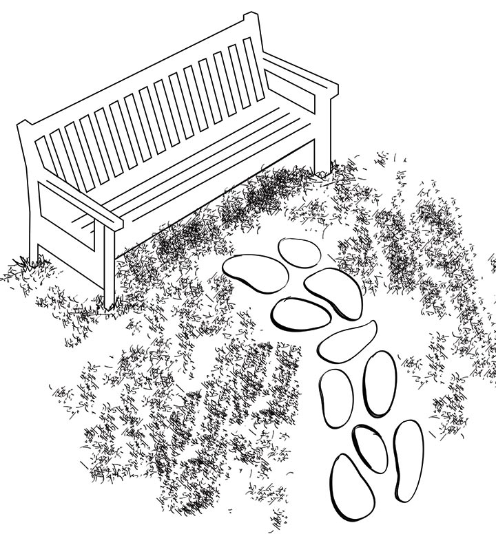 How to lay a random stone path
