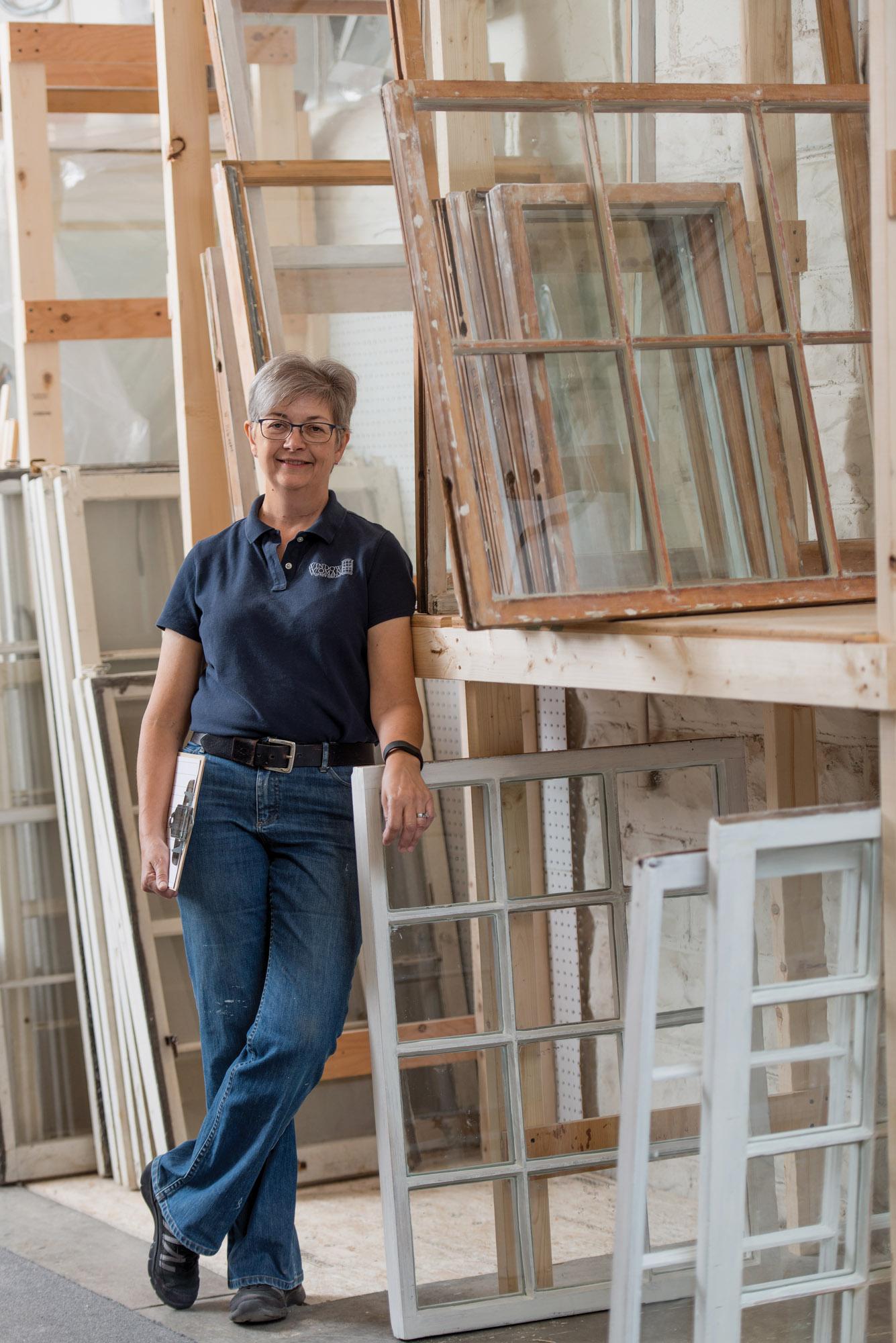 Alison Hardy, vintage windows