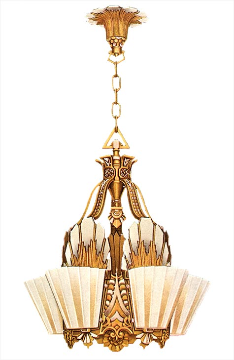 Art Deco lighting, 1930-1935