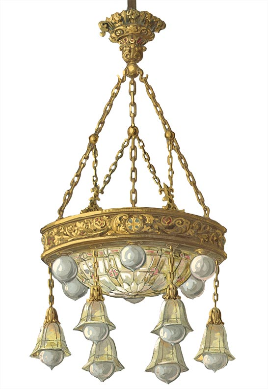 Classical revival lighting 1910 1915