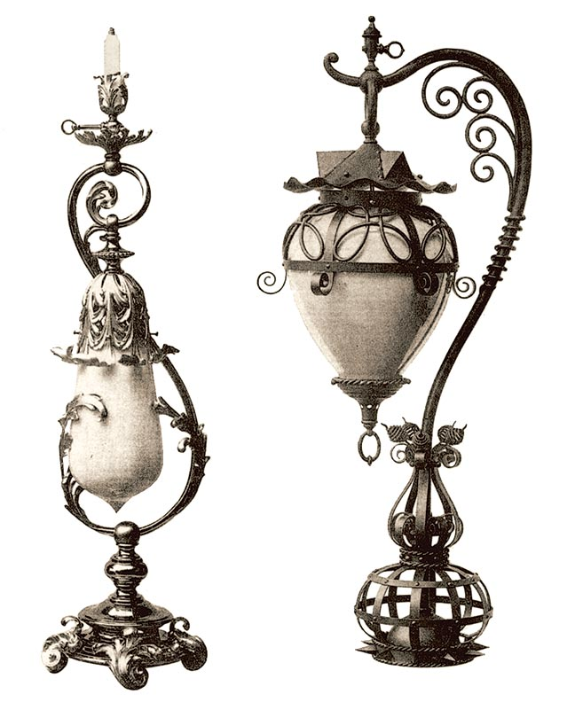 Eclectic Revival lighting, 1895-1900