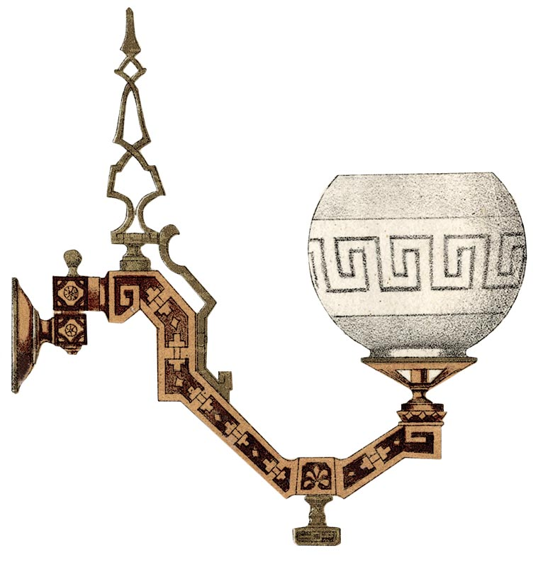 Neo-Grec lighting, 1870-1875