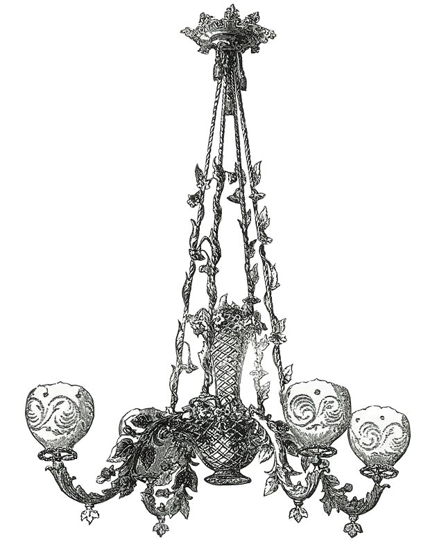 Rococo lighting, 1860-1865