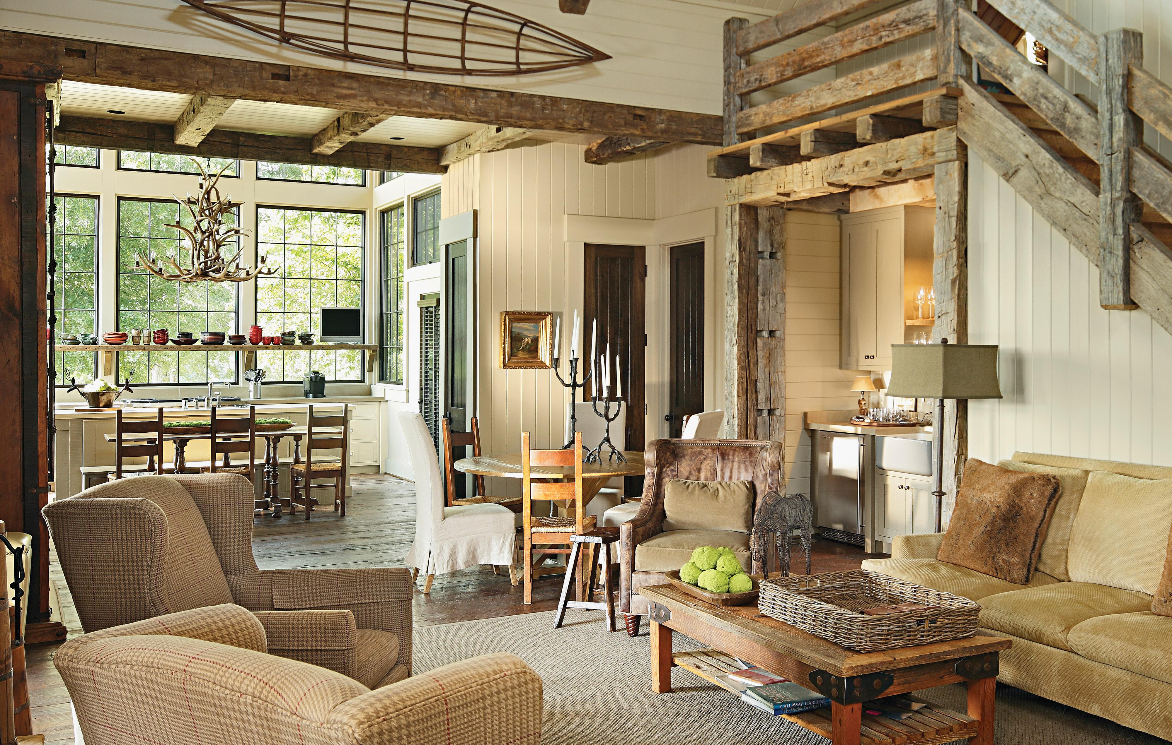 rustic farmhouse living room