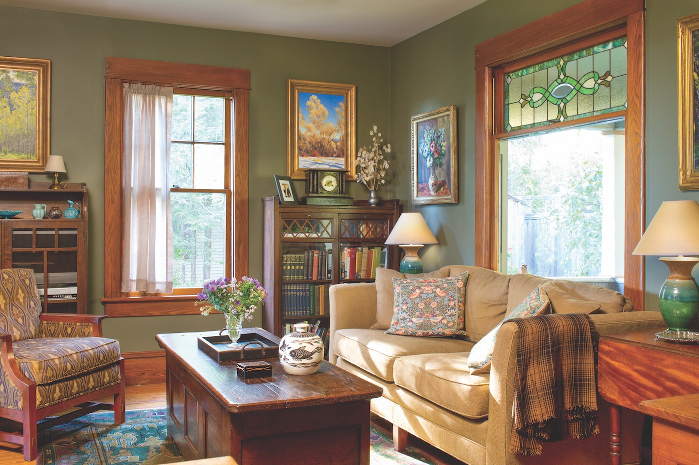 Living room with Stickley furniture