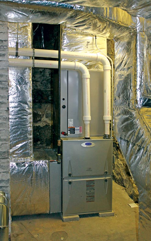 Historic New England also added new high-efficiency furnaces and insulated ductwork.