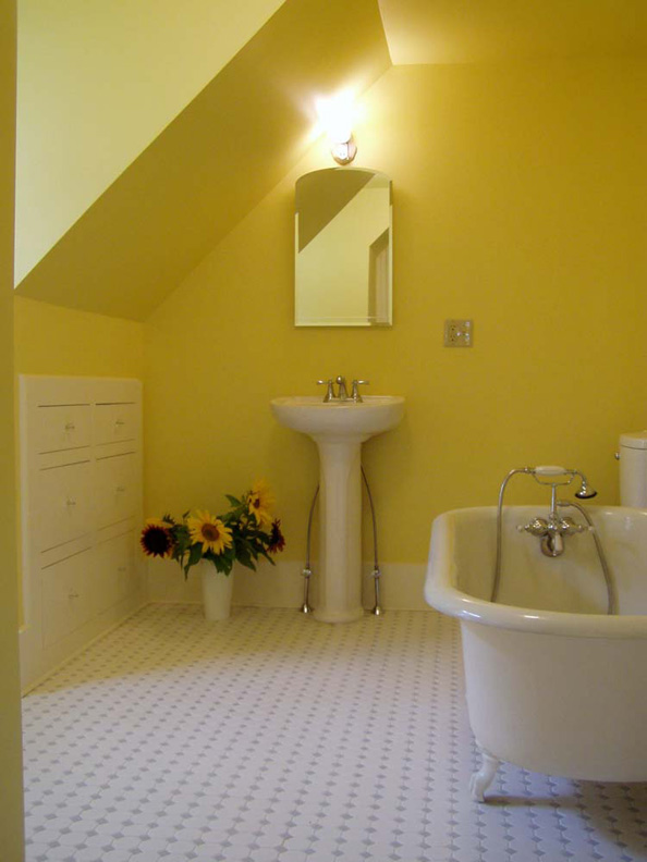 Photo gallery top floor baths old house restoration Empire bathrooms