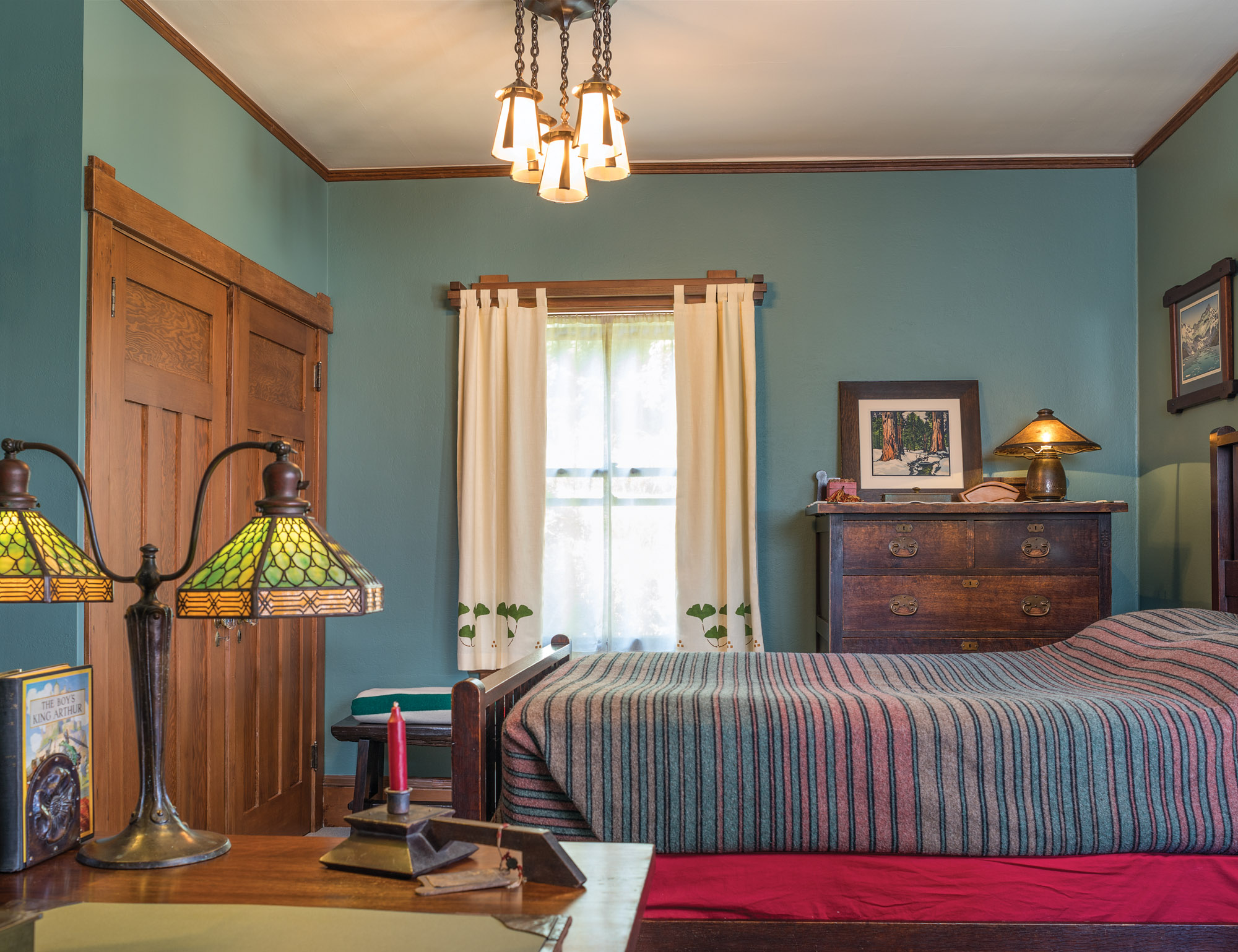 Master bedroom with Roycroft antiques