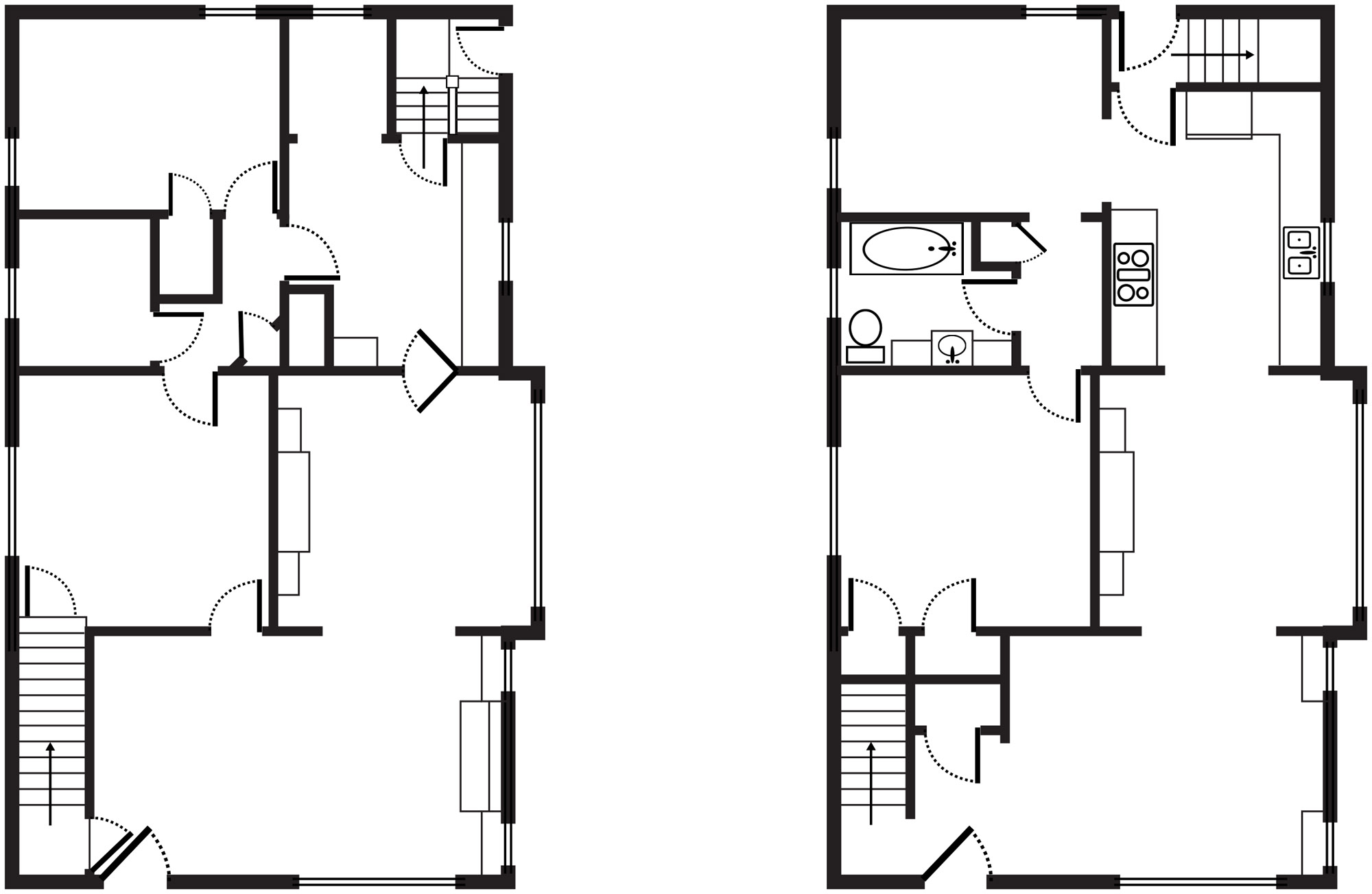 bungalow kitchen floorplan