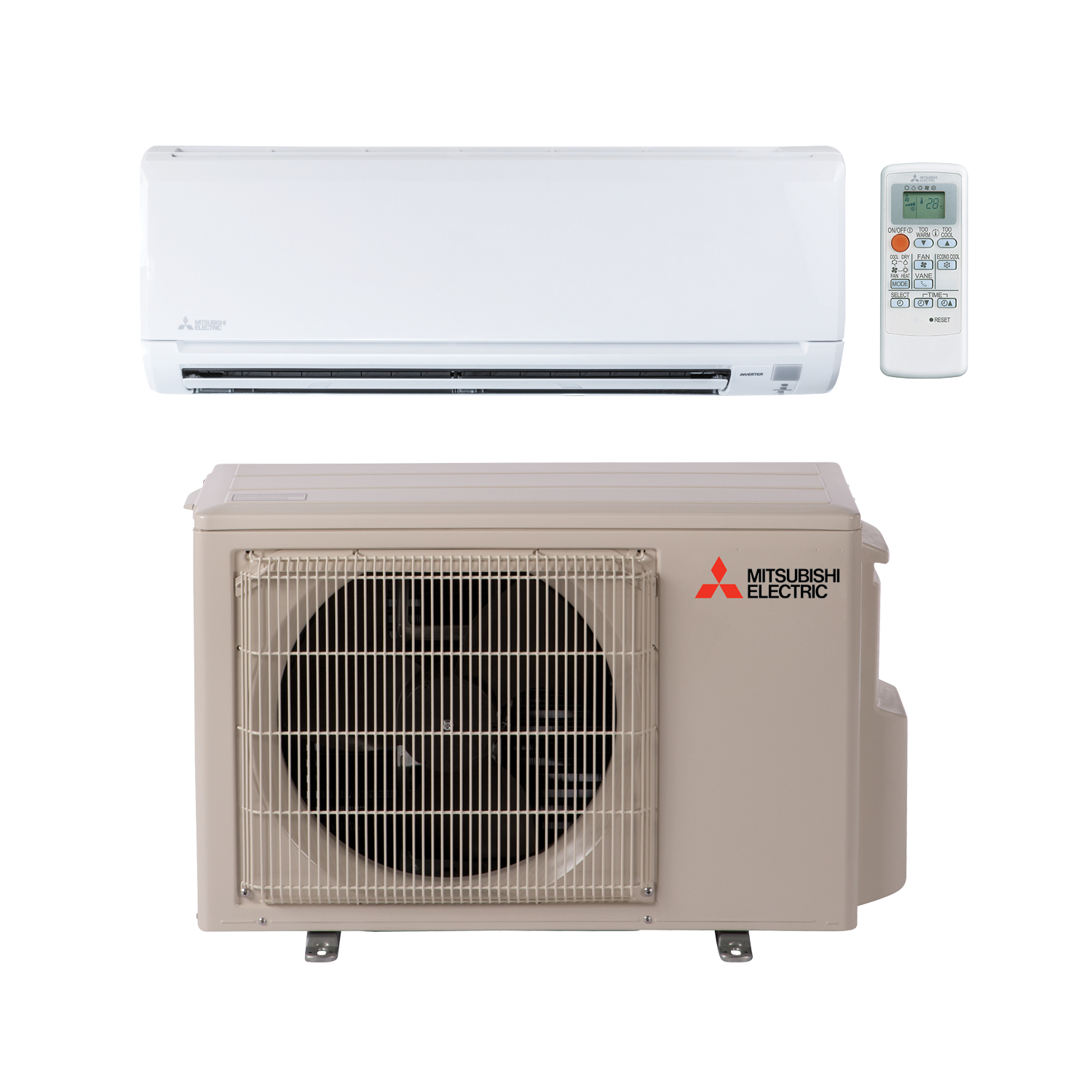 No need to block up a window; go with mini split heating and cooling units, like this one fromMitsubishi Electric.