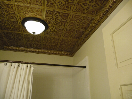Metal Ceiling Express Hand Faux Finish Install