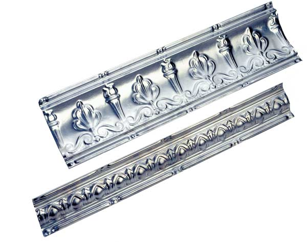 Metal cornices for metal ceiling