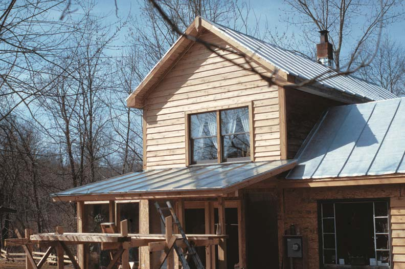 "The success of the standing seam roof rests on the height and integrity of the seam. It typically projects 1"" or more above the surface and is therefore higher than any running water."