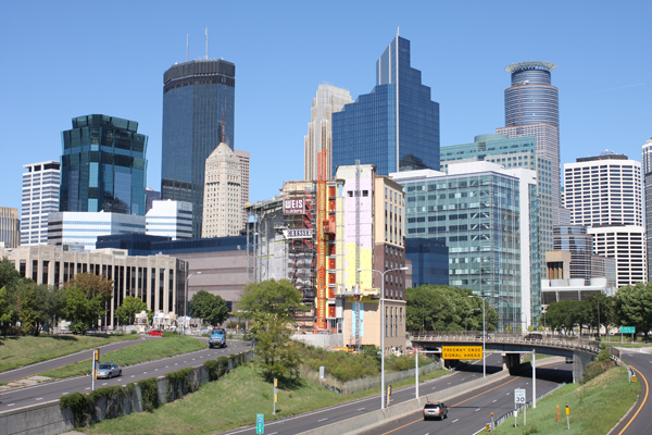 Minneapolis (shown) and St. Paul together make a metropolis flanking the Mississippi. (Photo: Chris Gregerson)