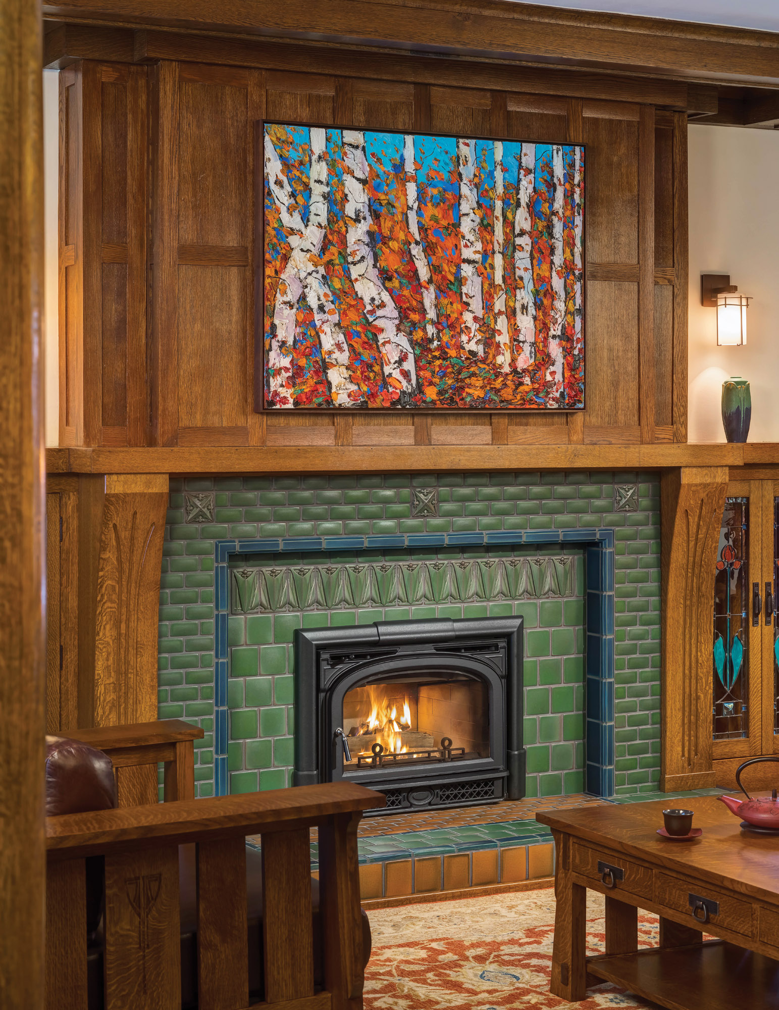 Motawi Tileworks fireplace