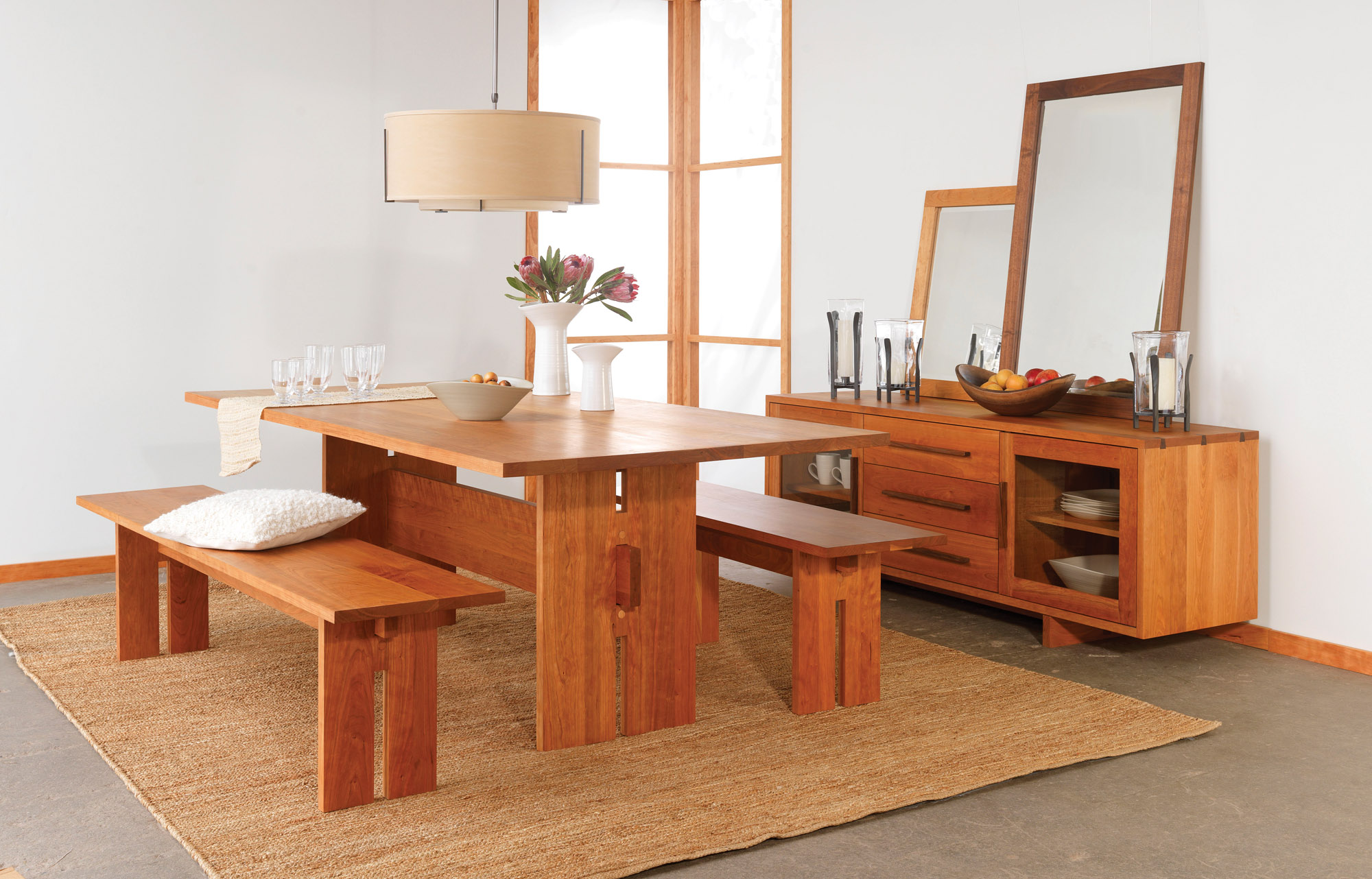The Modern American Dining Set by Vermont Wood Studios
