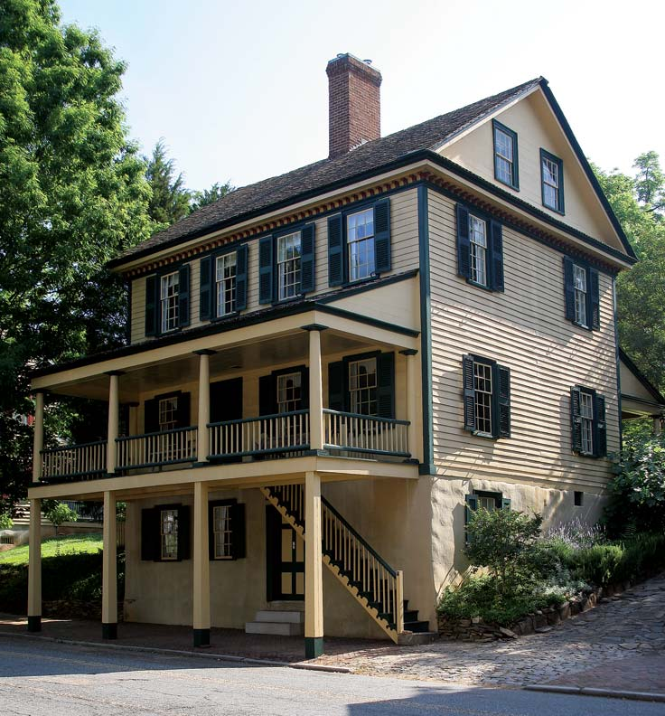 The 1825 Butner House illustrates the gradual Anglicization of Moravian Old Salem.
