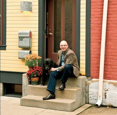 front stoop, architect Gerald Lee Morosco