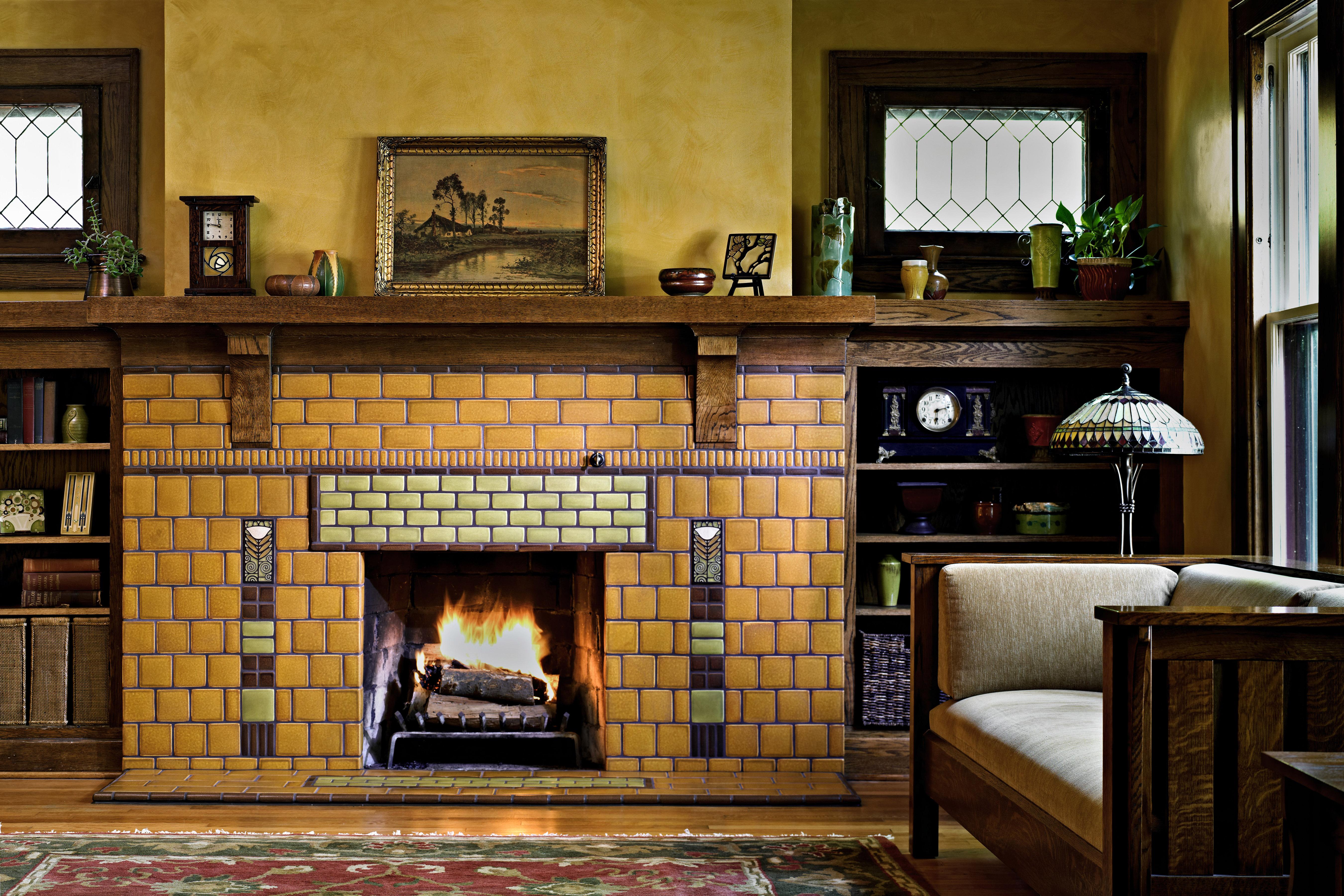 Motawi Dard Poppy Fireplace