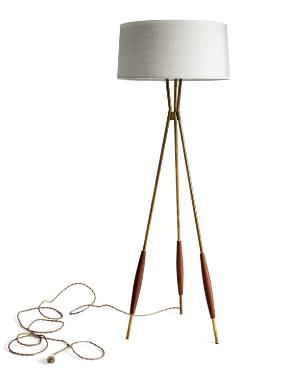 Mulberry tripod lamp by Schoolhouse Electric