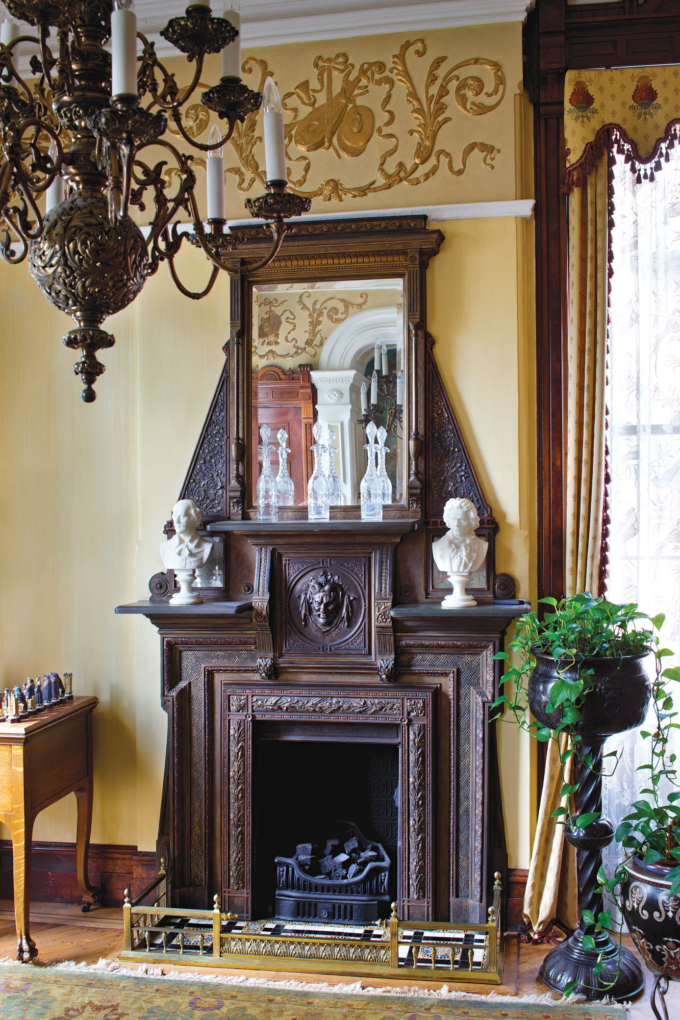 cast metal fireplace