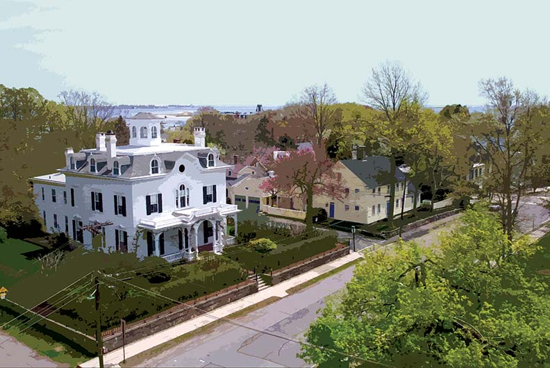 Colonial and Victorian homes make Stonington and the rest of this area a walker's delight.