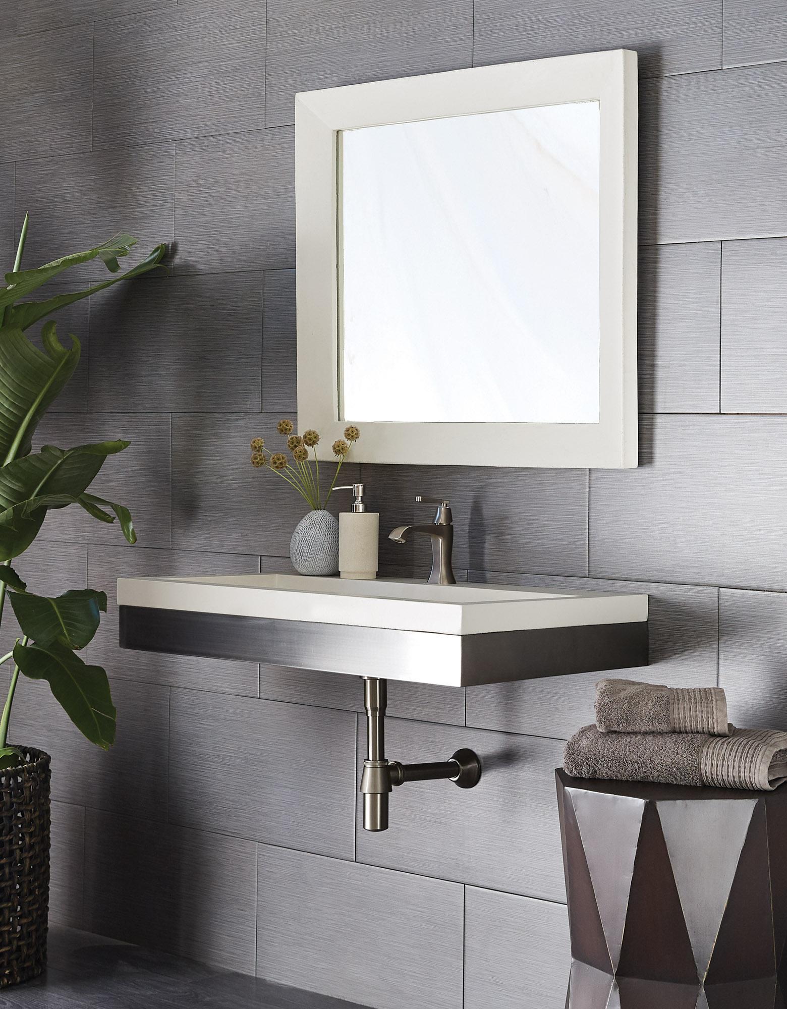 """Zaca 36"""" trough sink in slate"""