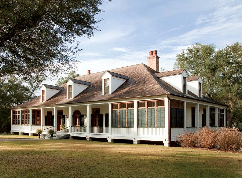 Cooper Johnson Smith Architects created this stunning French Colonial Revival house in Pensacola, Florida, based on a circa 1750 plantation home in Louisiana.