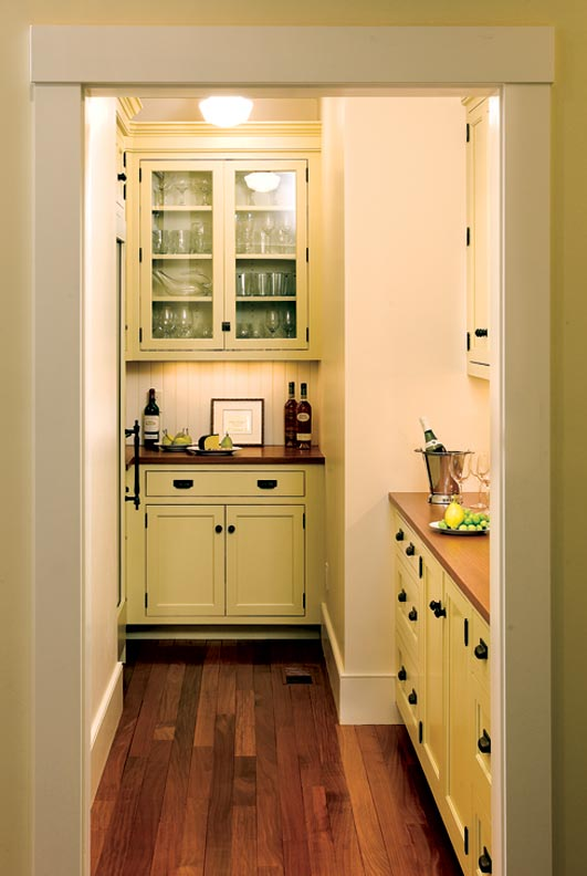 Crown Point created this built-in cabinetry inside an existing space.