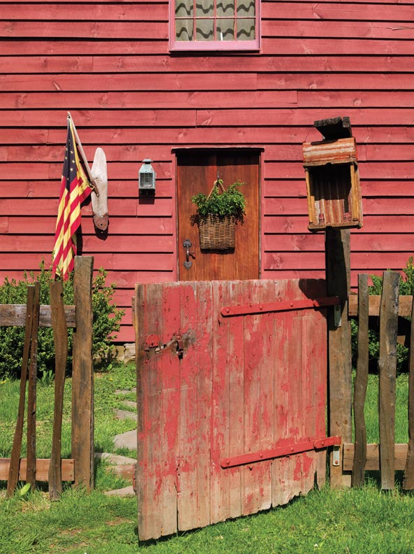 The Saltbox house was built by the homeowner and his father between 2009 and 2011.