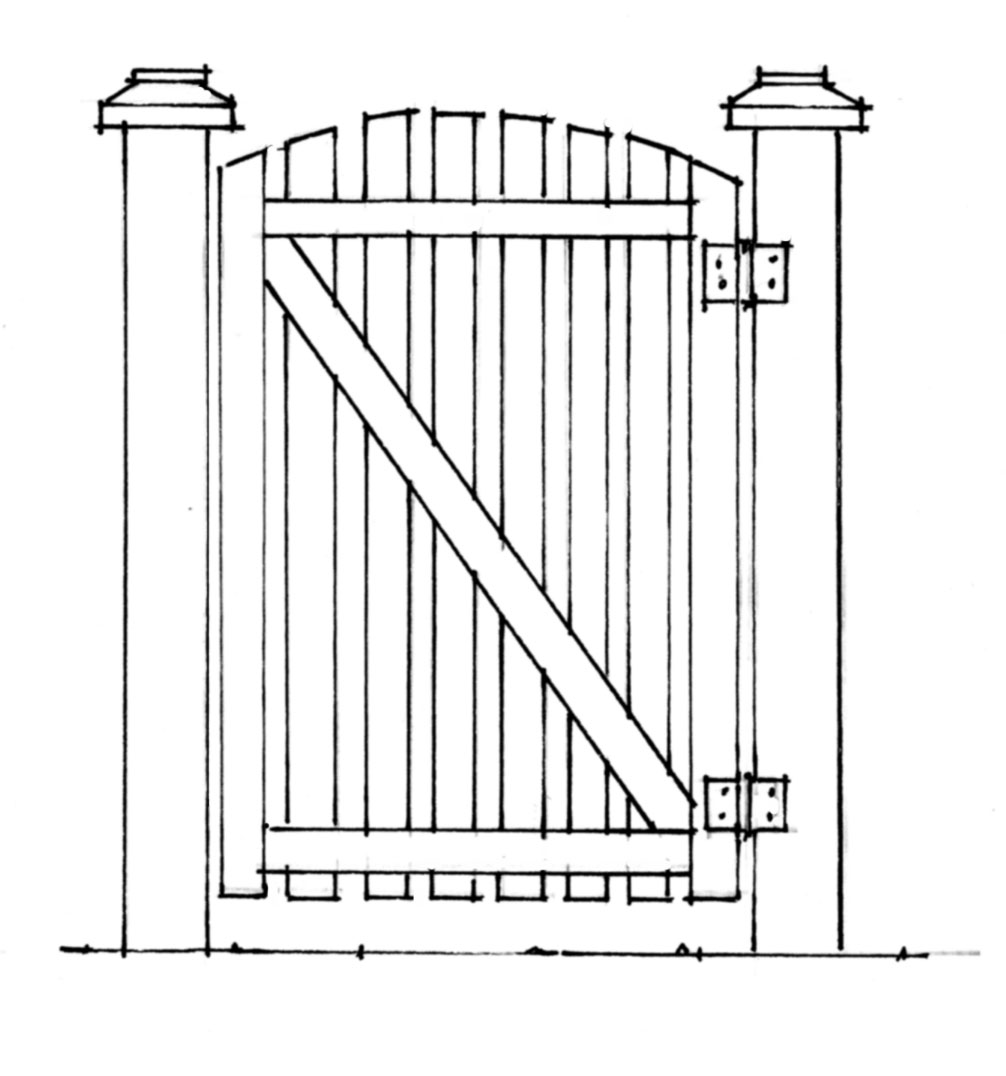 How to build a gate that doesnt sag old house restoration diagonal gate brace baanklon Image collections
