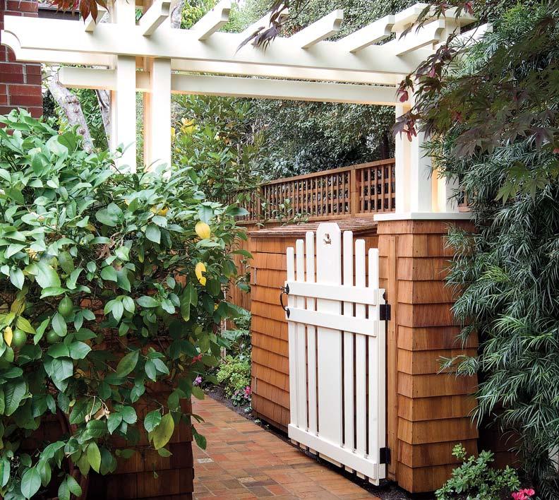 White garden gate