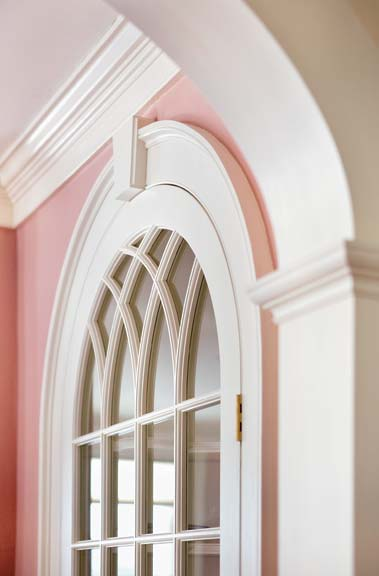 Architectural trim details complete a room and give it personality. Shown here is the carpentry work of Doug Gest of Hartland, Vermont.