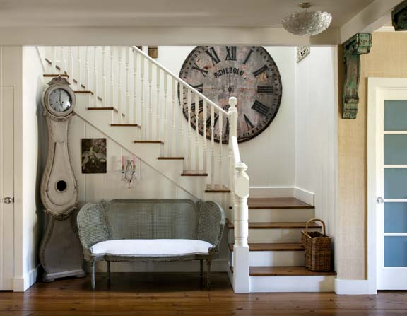 The home's interior is casual and full of comfy furnishings that Brooke has gathered over the years.