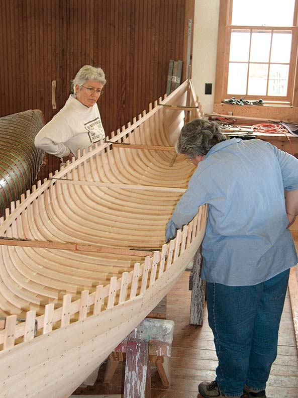 Build your own wood and canvas canoe with a course coming up in April.