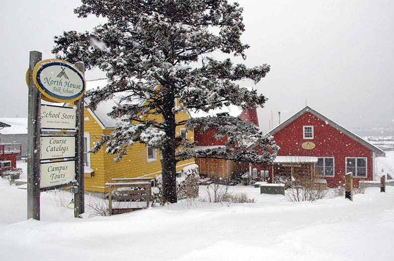 Located on Lake Superior in far north Minnesota, North House Folk School is a haven for Northern crafts. Courses are offered year-round.