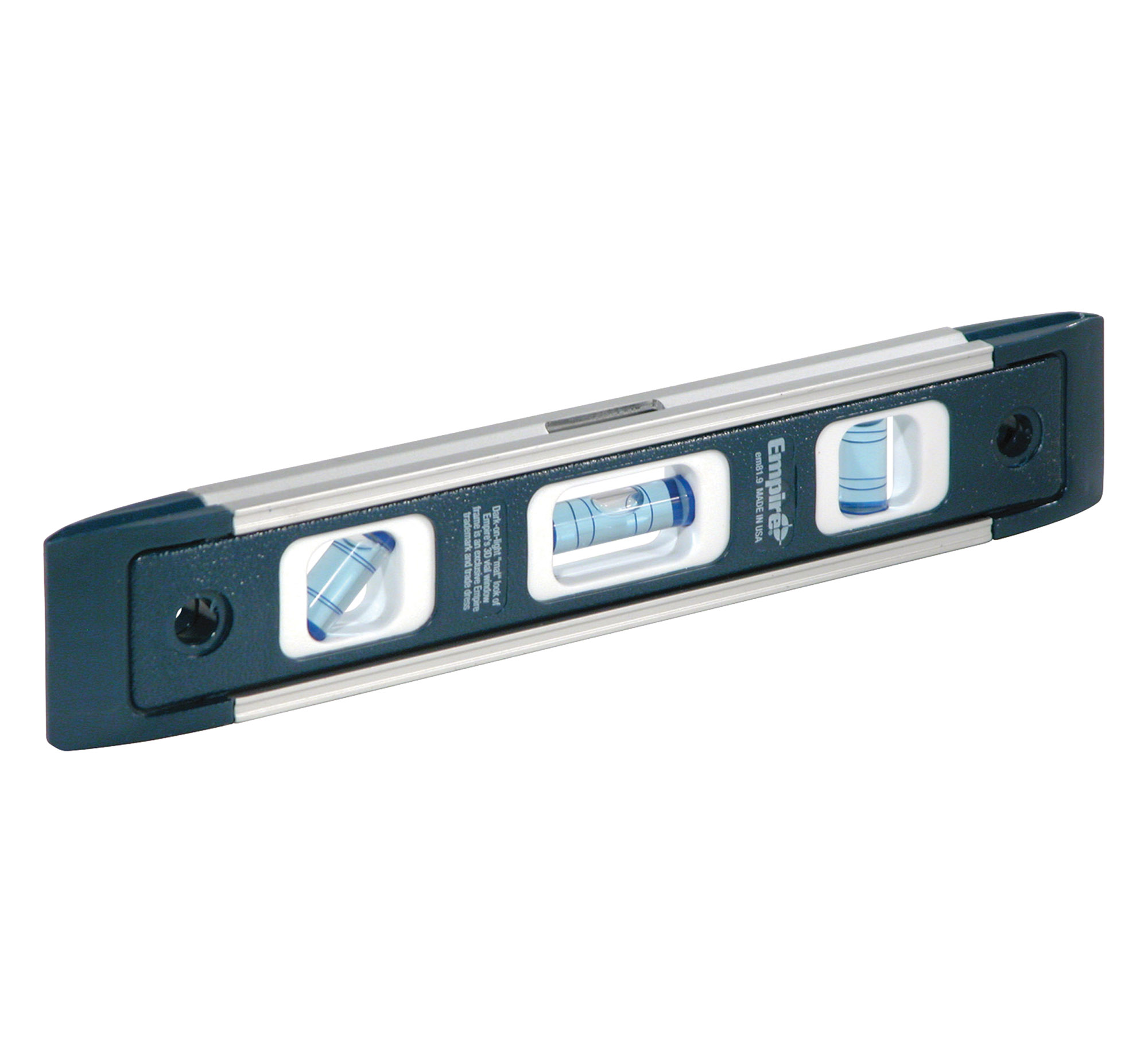 "The compact 9"" level is made of extruded aluminum with a magnetic edge; a V-groove edge fits on pipe or conduit."