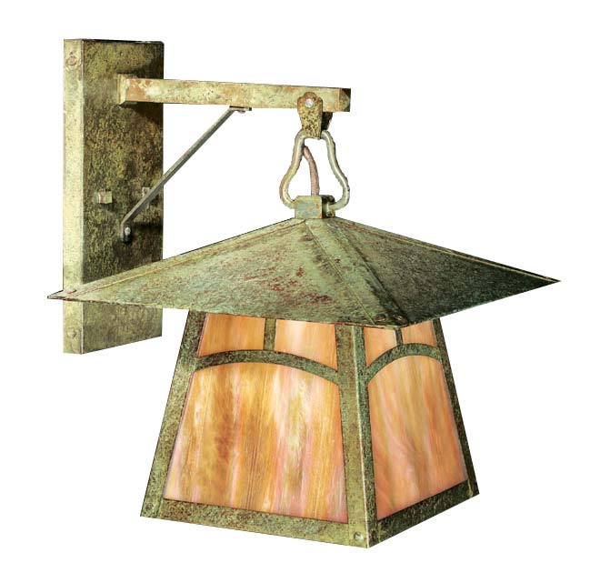 Oak Knoll Avenue saddle arm-mount light by Old California Lantern Co.