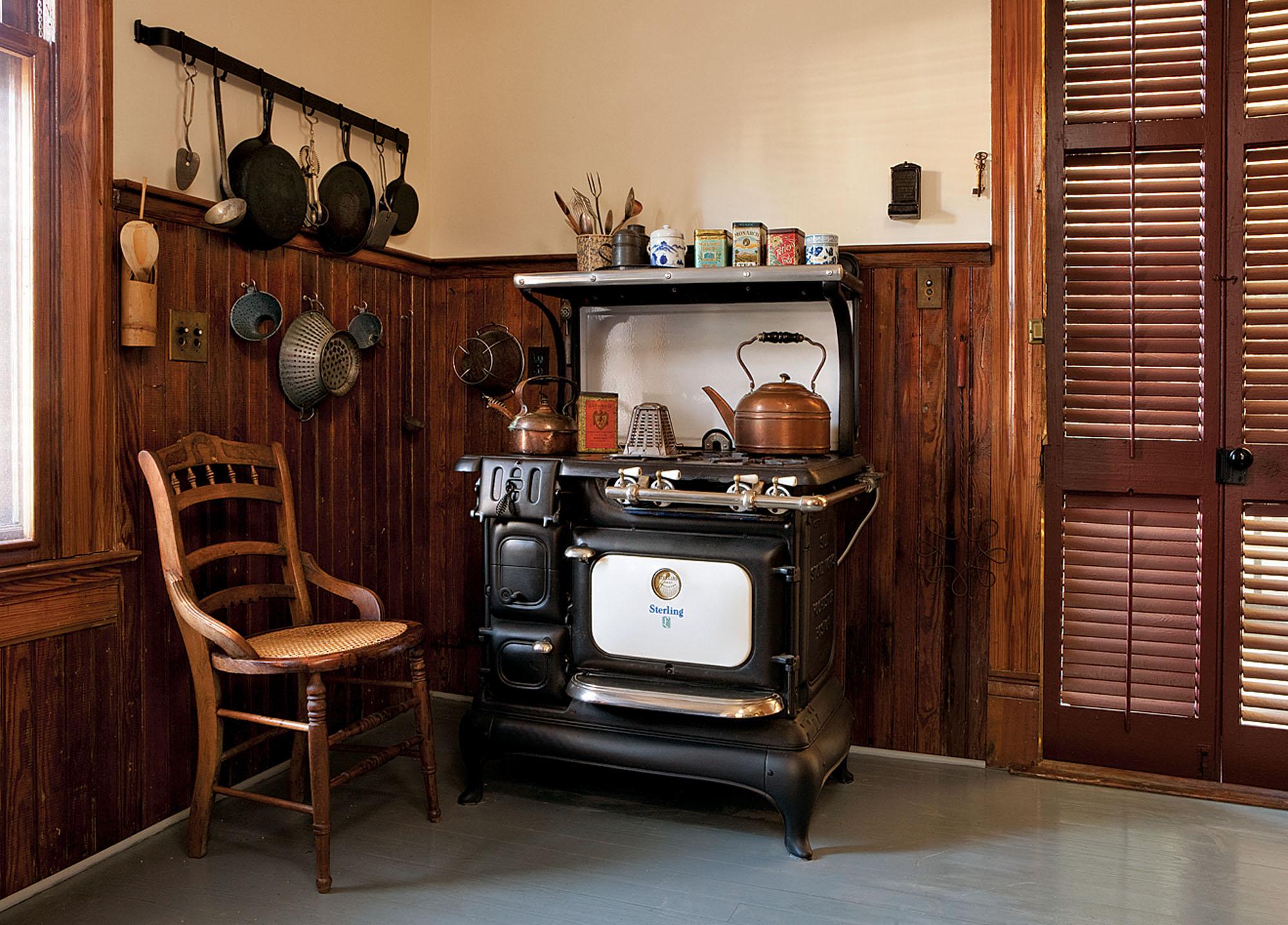 Victorian kitchen, vintage stove