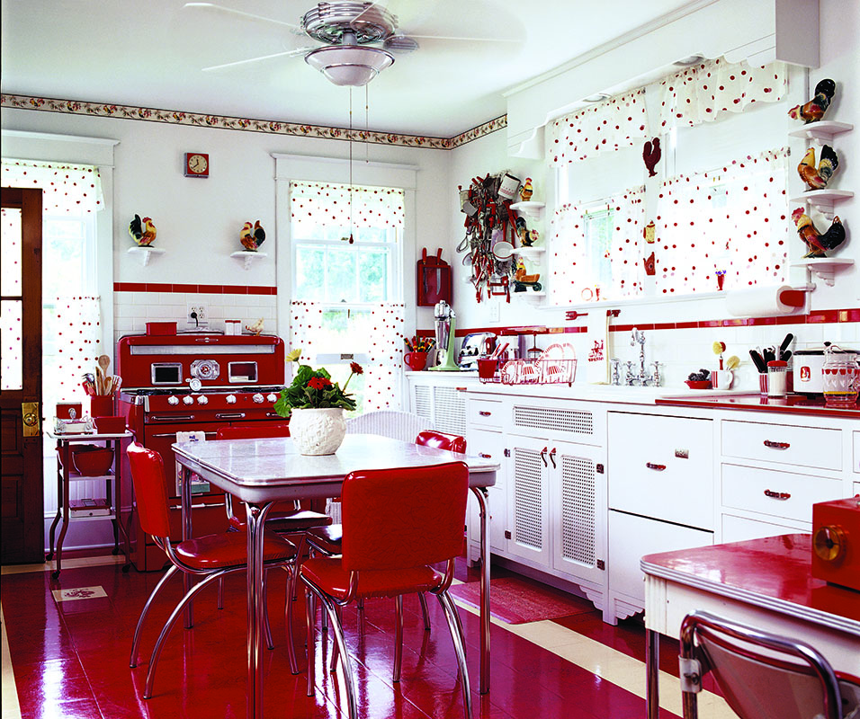A Mid-Century Kitchen in Red - Restoration & Design for ...