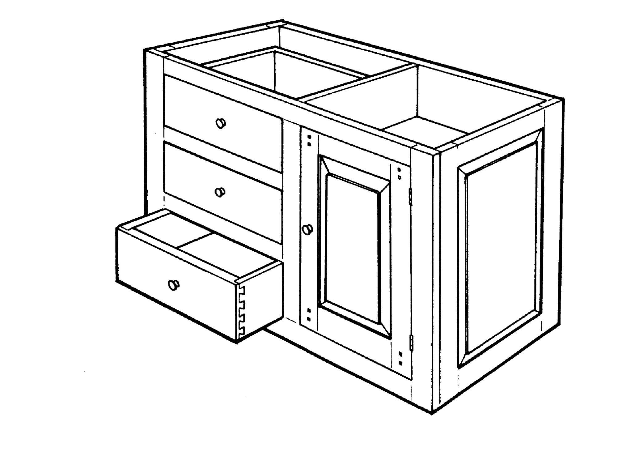 early cabinet design