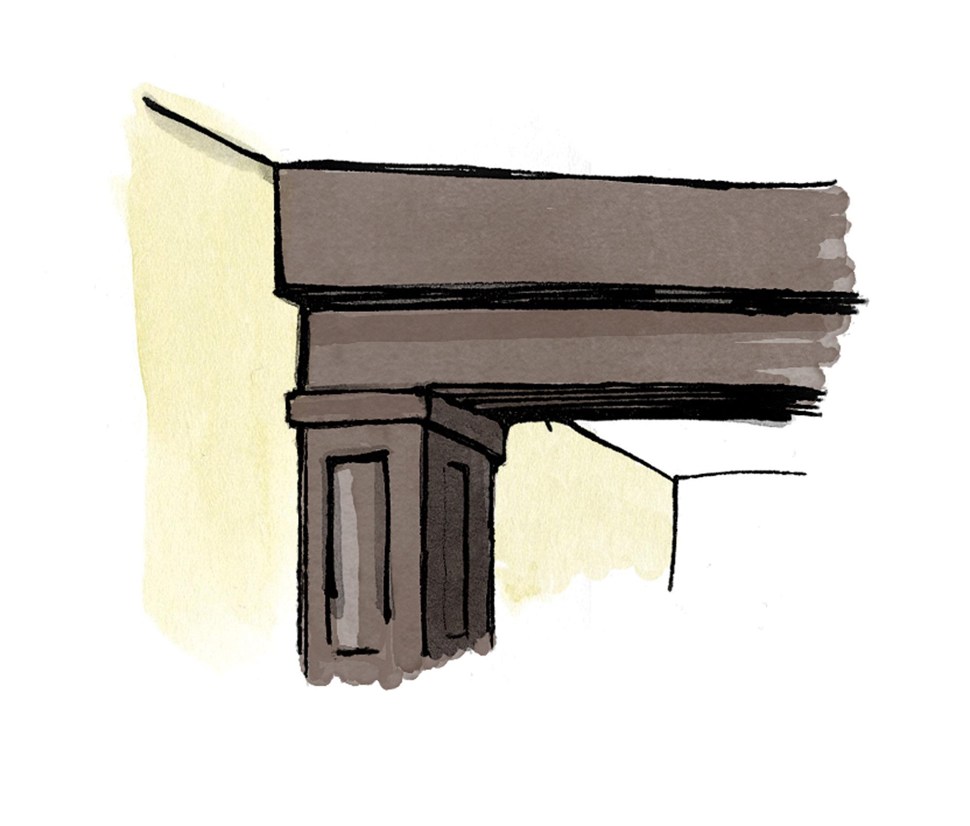 sagging beam illustration