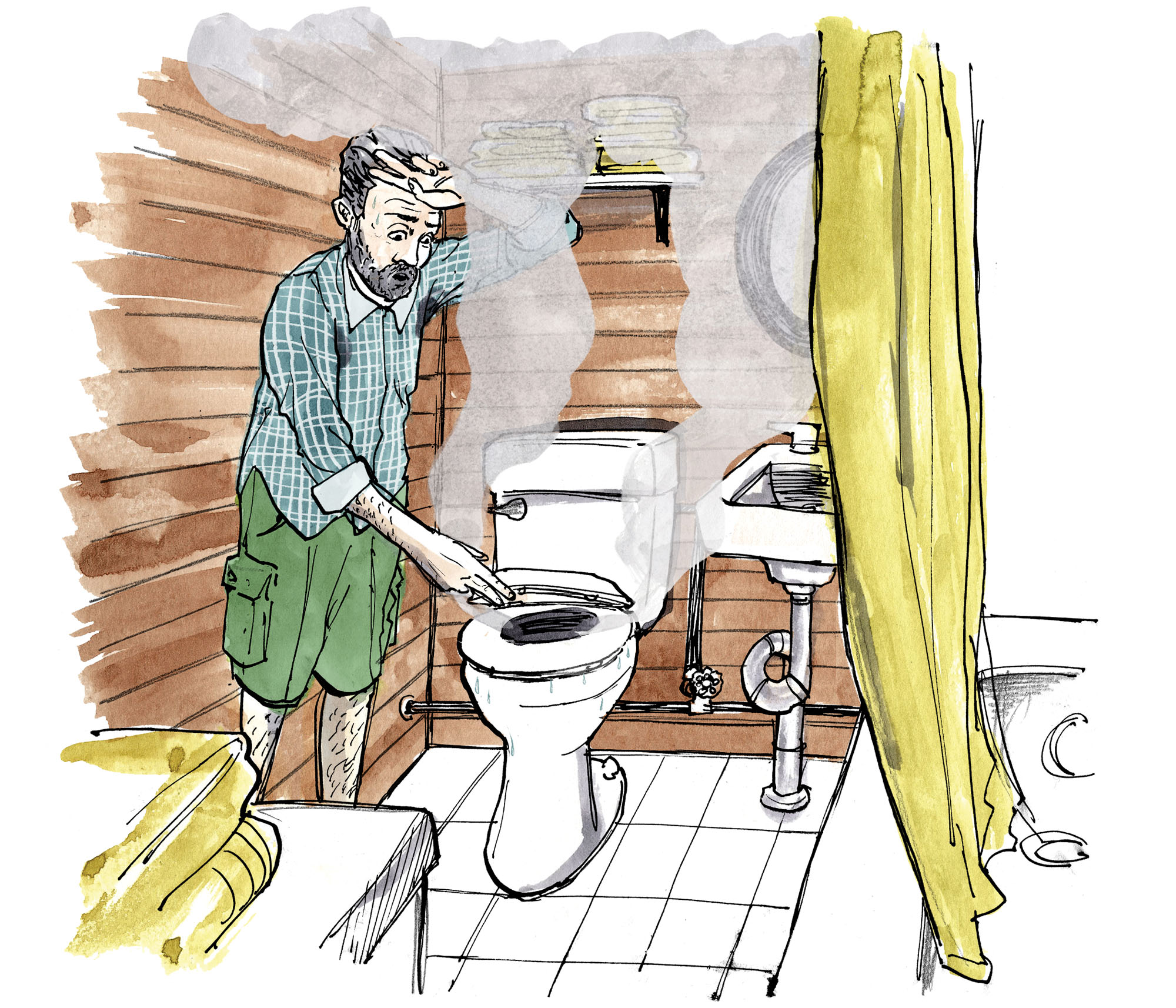 A Fix for a Sweating Toilet