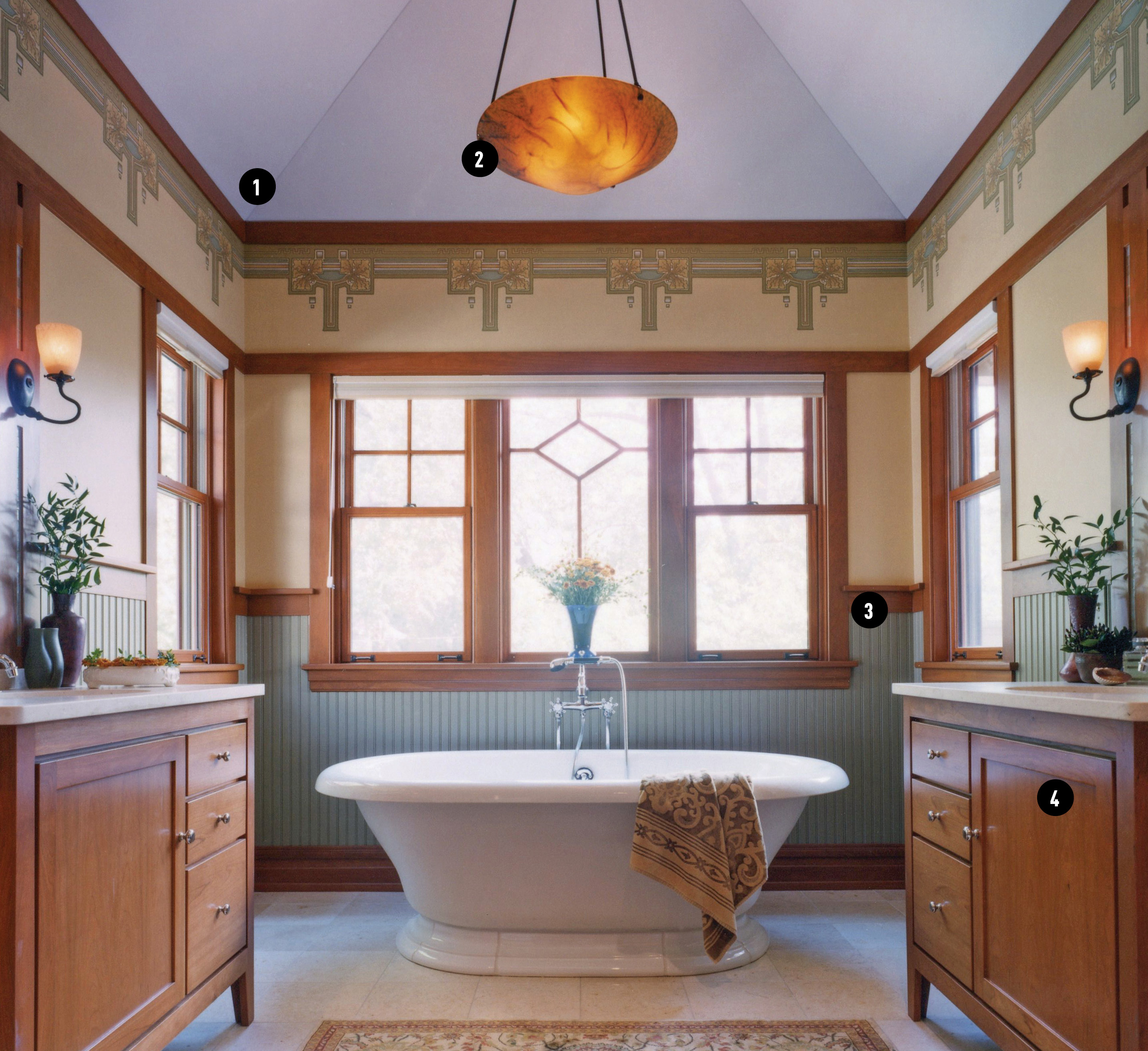 Arts & Crafts-era bathroom