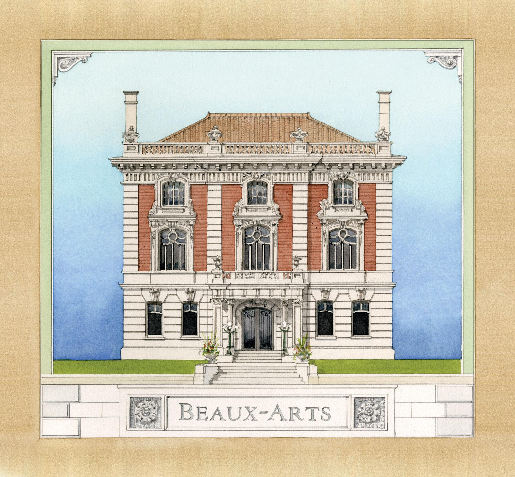 Beaux-Arts style illustration