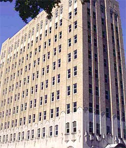 The zig-zag Oklahoma Natural Gas Building is said to have spearheaded the Art Deco fervor in Tulsa.